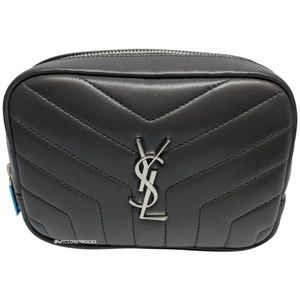 SOLD Saint Laurent Grey Loulou Cosmetic Case